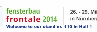 Nürnberg Almanya Fensterbau 2014 fuarında katılımcıyız