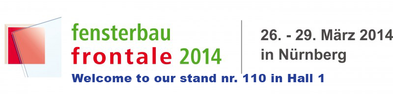 We are participating in NUREMBERG FENSTERBAU-FRONTALE 2014 in Germany!