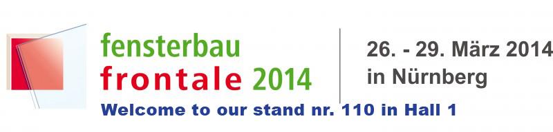 Wir nehmen an der NÜRNBERG FENSTERBAU-FRONTALE 2014 in Deutschland!