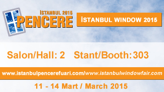 We will be at ISTANBUL WINDOW 2015!